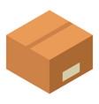 parcel carton box icon isometric style vector image vector image