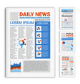 realistic mockup newspapers set vector image