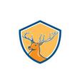 Red Stag Deer Head Shield Cartoon vector image vector image