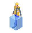 rescue man flood icon isometric style vector image vector image
