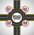 road infographics vector image