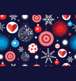 seamless christmas pattern with balloons and vector image