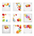 Set of Colored Balloons vector image vector image