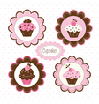 Set of cupcakes labels vector image vector image