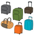 set of suitcase vector image