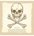 Skull crossbones and place for text vector image vector image
