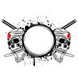 skull kamikaze vector image vector image