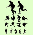 soldier male army silhouettes vector image
