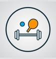 sport equipment icon colored line symbol premium vector image