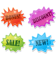 stickers for sale vector image vector image