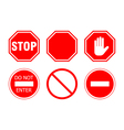 stop sign set vector image vector image