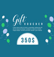style collection gift voucher background vector image