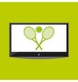tv ball and racket icon Tennis design vector image vector image