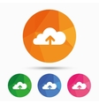 Upload to cloud icon Upload button vector image vector image
