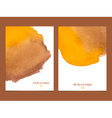yellow and brown watercolor background vector image