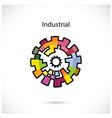 Creative circle abstract logo design vector image
