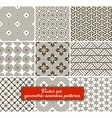 set 9 geometric seamless patterns vector image