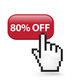 80 Off Button vector image
