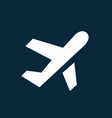 airplane taking off simple icon airport symbol vector image