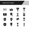 award and trophy icons design for presentation vector image vector image