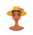 beautiful african american young woman in stylish vector image vector image