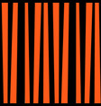 black and orange striped pattern for halloween vector image