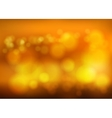 Bokeh blur romantic golden backdrop with fog vector image vector image