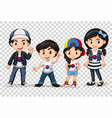 boys and girls from south korea vector image vector image