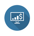 Business Chart on Desktop Flat Design vector image vector image