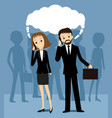 business people talking on a cell phone vector image vector image