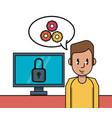 business worker cartoon vector image vector image
