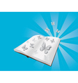 Butterflies cut out of book vector image vector image