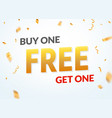 buy one get one free sale offer design vector image vector image