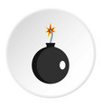 cannonball icon circle vector image vector image