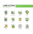 Christmas and New Year - line design icons set vector image vector image