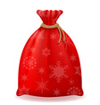 christmas bag 02 vector image vector image