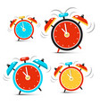 clock - time symbol ringing alarm clocks set vector image