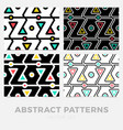 collection striped seamless geometric patterns vector image