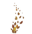 colorful autumn leaves decorated with white blank vector image vector image