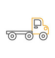construction vehicle isolated icon vector image vector image