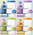 corporate identity in different color variations vector image vector image
