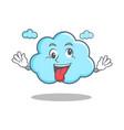 crazy cute cloud character cartoon vector image