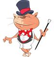 Cute Cat Gentleman Cartoon vector image vector image