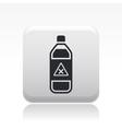 dangerous bottle icon vector image vector image