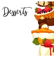Delicious sweet dessert cartoon vector image vector image