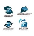 delivery logo design template truck or car vector image vector image