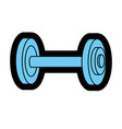 dumbbell fitness tool to do exercise and training vector image vector image