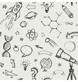 education science doodles - seamless pattern vector image vector image