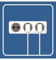 Electric socket vector image vector image
