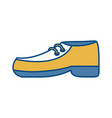 elegant shoe icon vector image